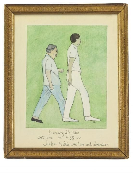 The painting by Jackie Kennedy made to celebrate the 50-mile hike