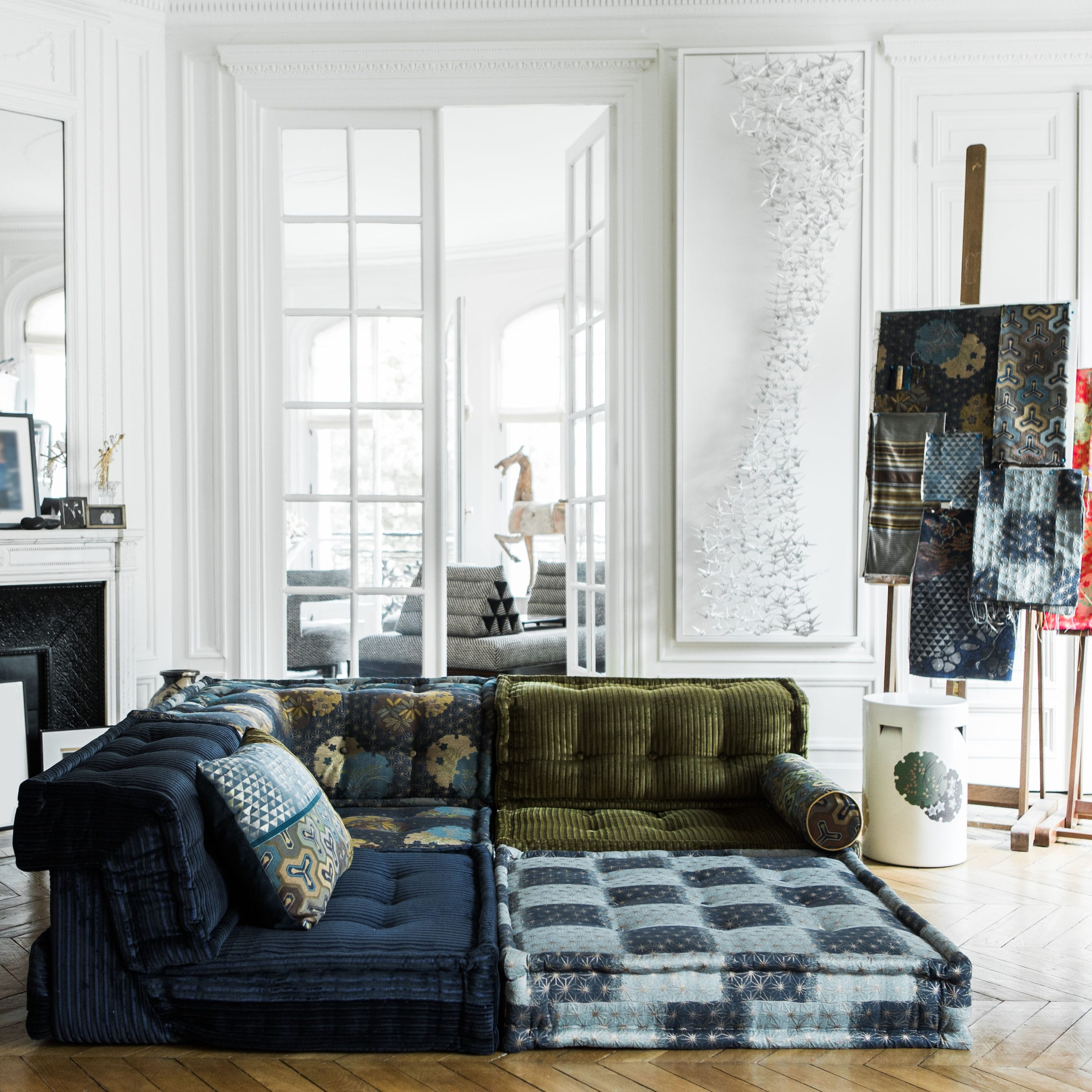 roche bobois mah jong modular sofa preis green fabric chesterfield fashion comes home kenzo takada reinvents the for yoru each element is priced individually depending on
