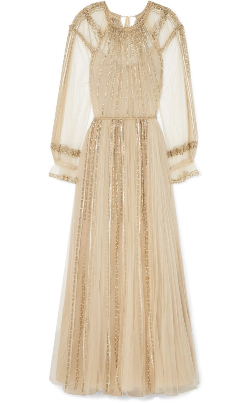 Valentino Pleated Sequinned Tulle Gown 9 100 Net A