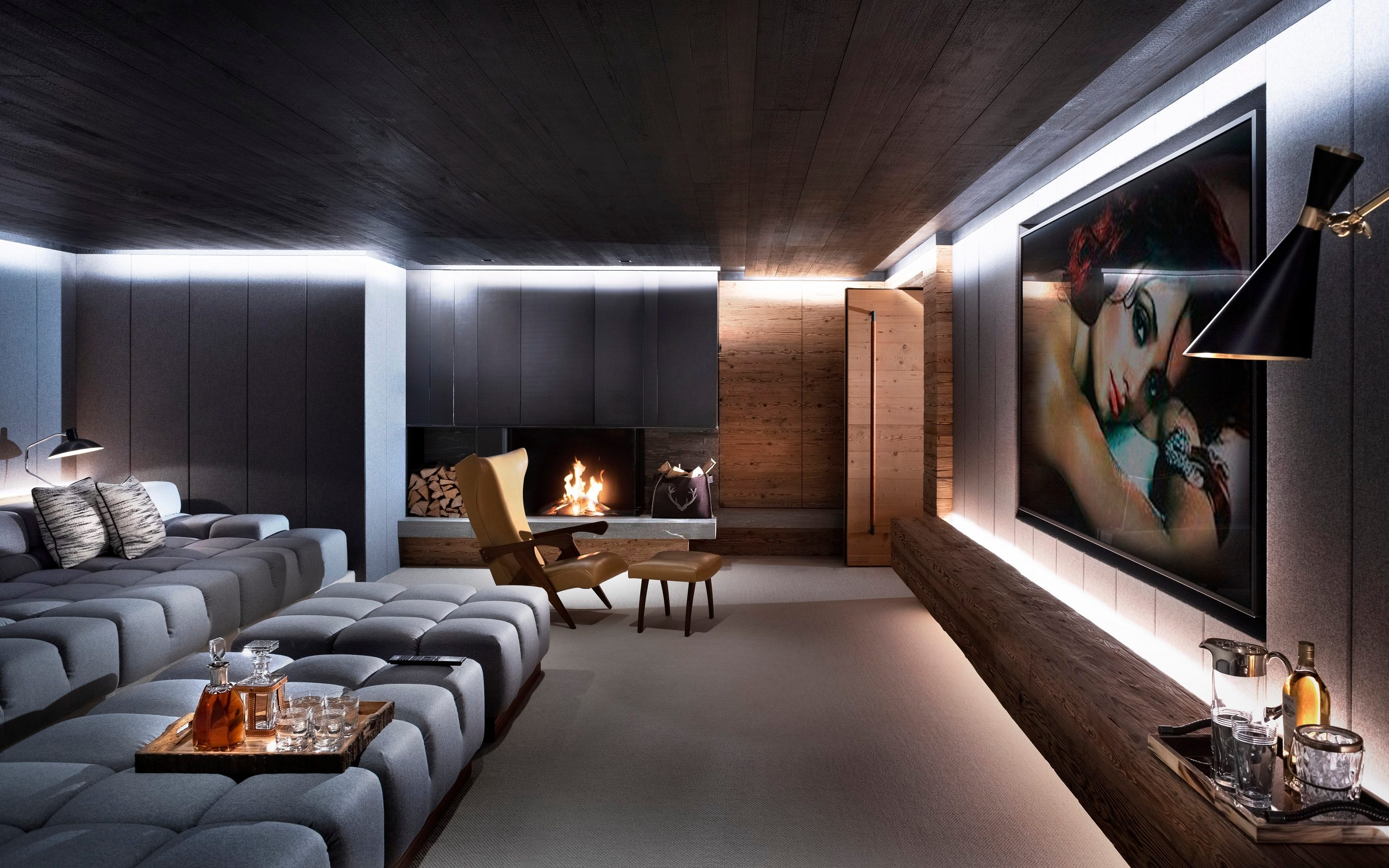 east london sofa cinema leon s bed mattress hideaways to seek how media rooms and private cinemas became the decades of open plan as layout choice for modern home we are coming back idea odd interior wall installing a