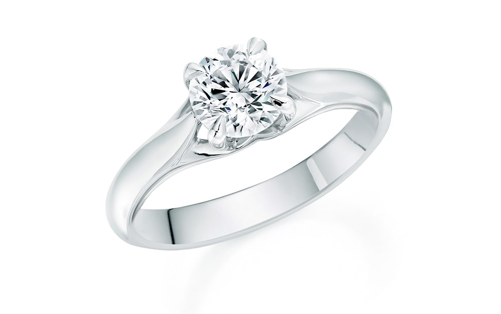 The Ena Harkness single-stone engagement ring by Mappin & Webb