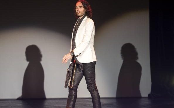 russell brand leather trousers
