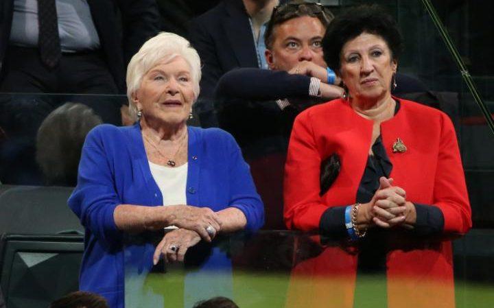 Line Renaud and FrancoiseNoguès-Macron
