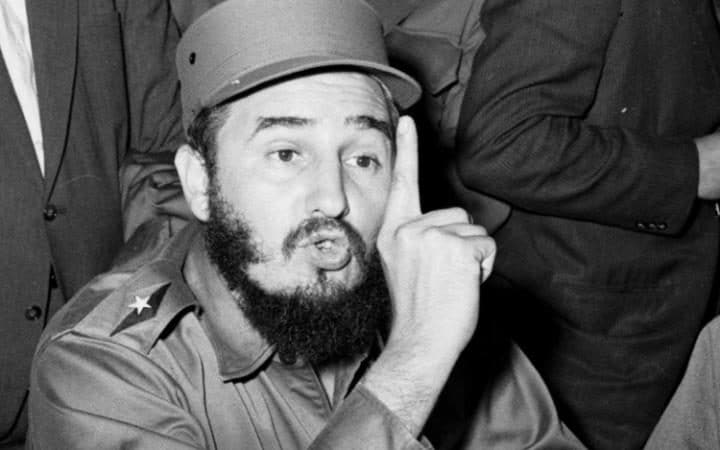 Castro talks to reporters in New York September 19, 1960, while in the city to address the United Nations
