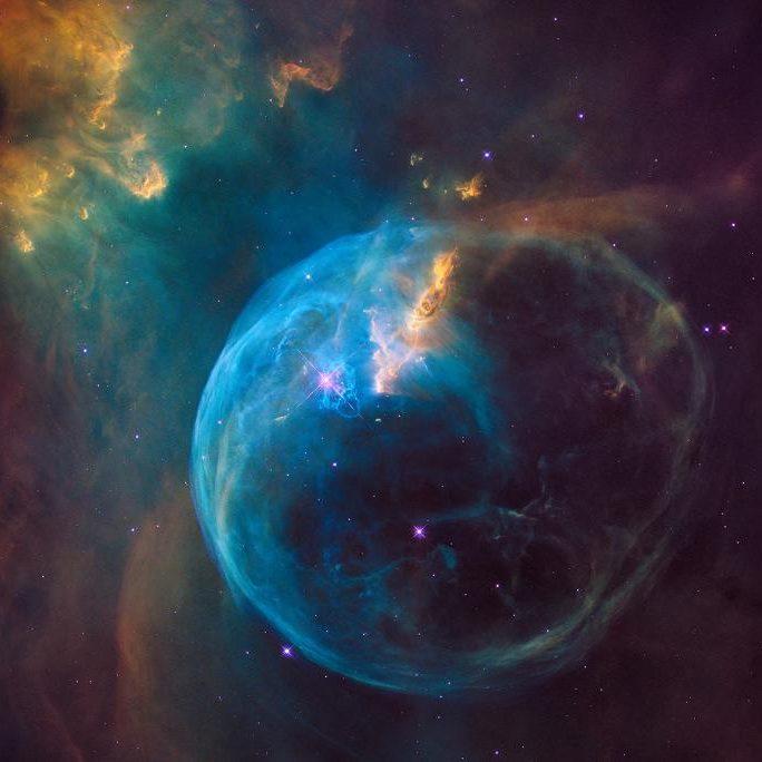 Blue cosmic bubble