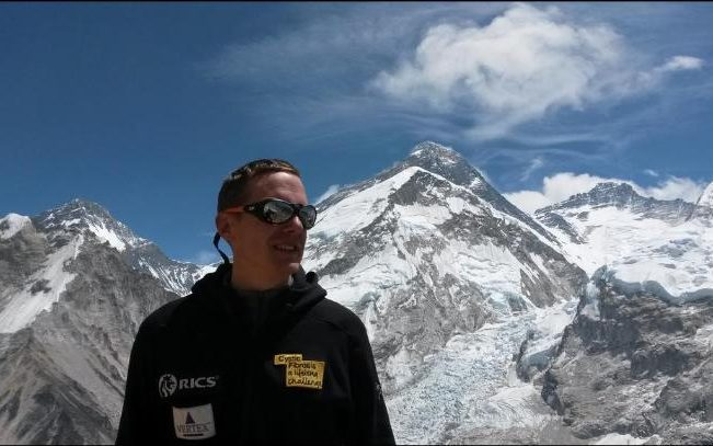 Nick Talbot took extra medication to cope with the lack of oxygen at high altitude but carried the same kit as everyone else