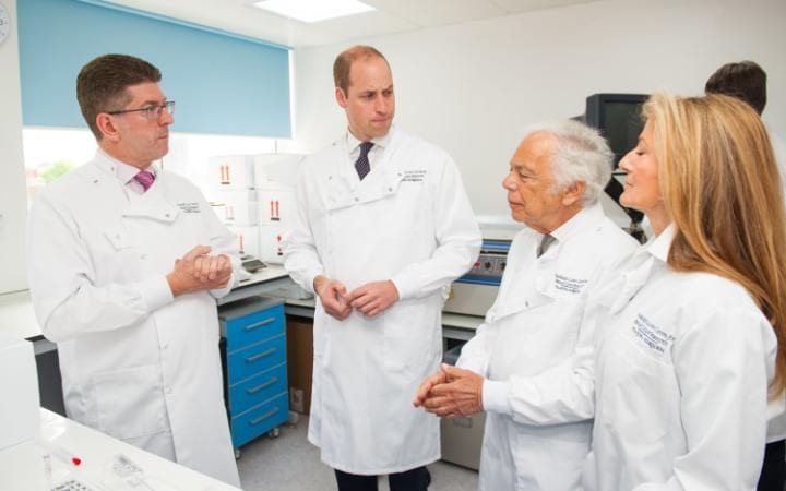 The Duke of Cambridge meet Professor Stephen Johston with Ralph Lauren and his wife Ricky