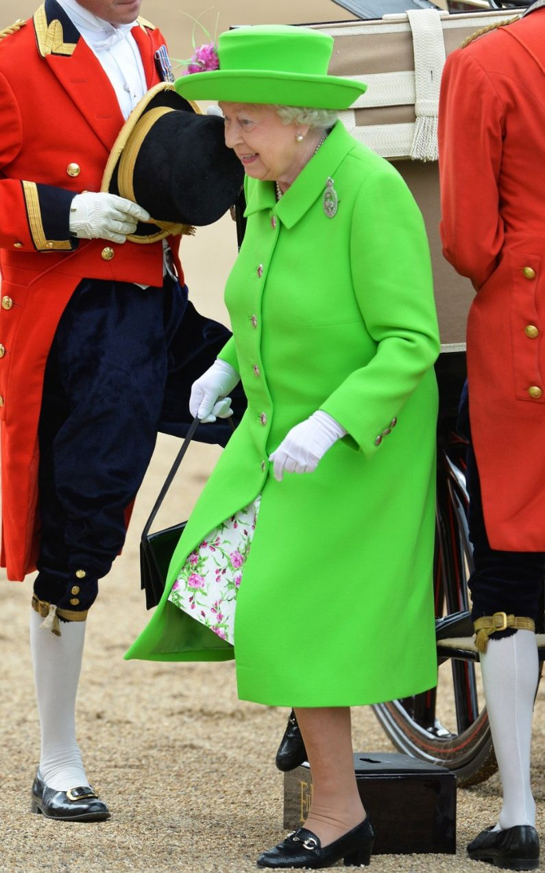 the queen trooping of the colour green