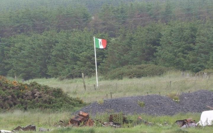 Mexican flag at border of Trump's Scottish golf course