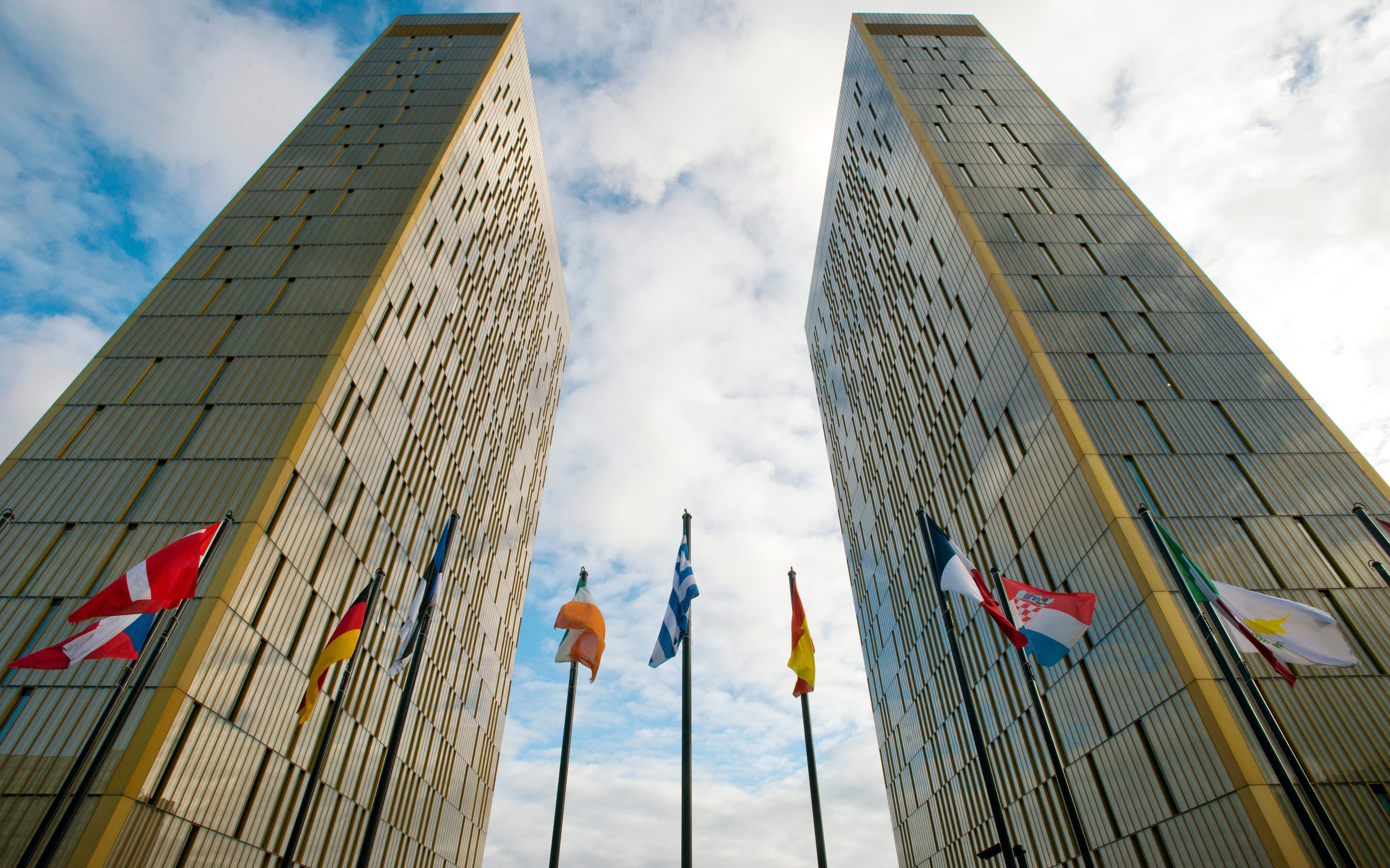 The twin towers of the European Court of Justice in Luxembourg