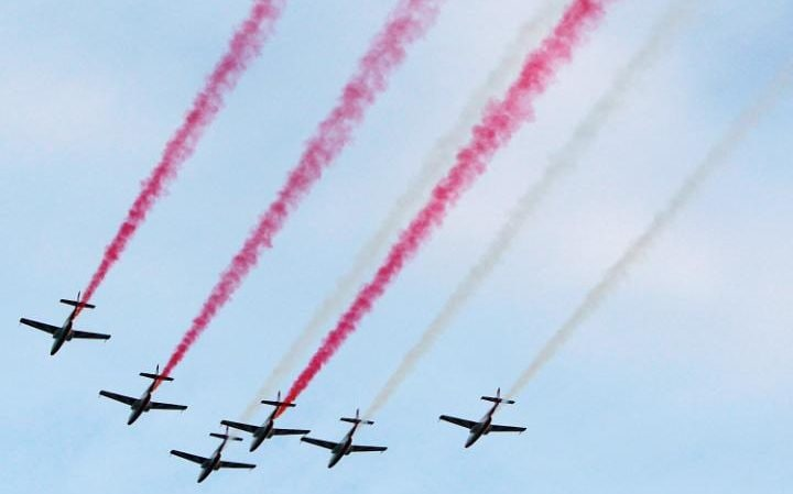 Air display for Nato summit in Warsaw