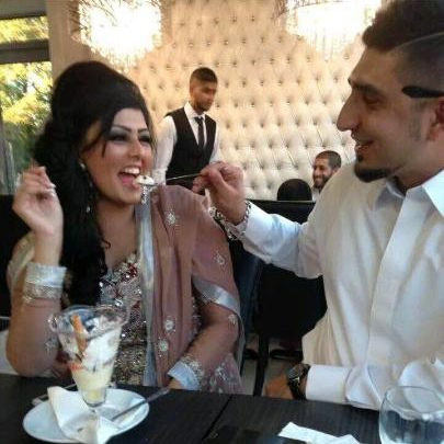 Samia Shahid and her husband Syed Mukhtair