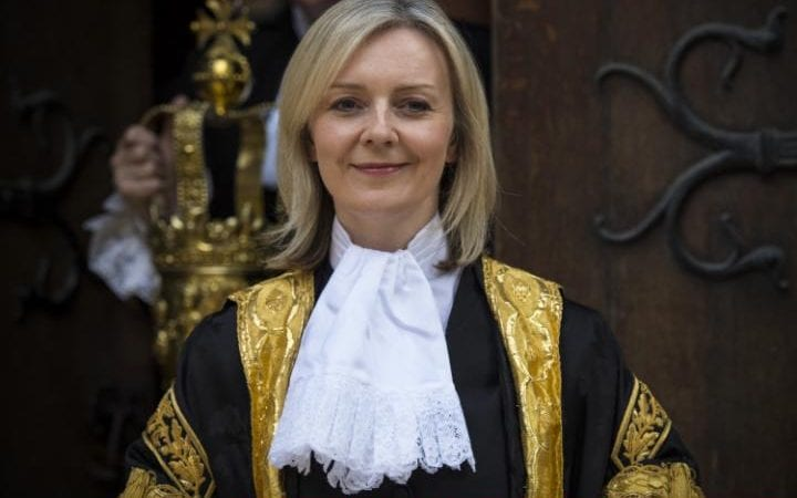 The Rt Hon Elizabeth Truss MP at the Royal Courts of Justice, Strand on July 21, 2016 in London, England.