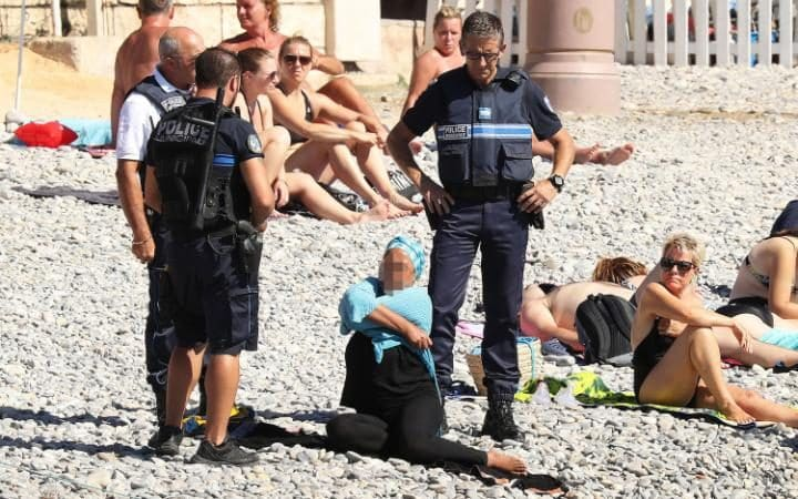 Image result for france burqa beach