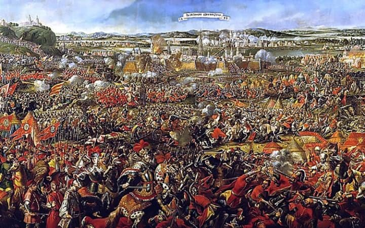A painting depicting the famous Battle of Vienna in 1683