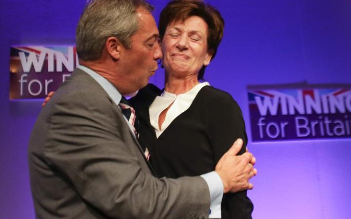 Nigel Farage with Diane James