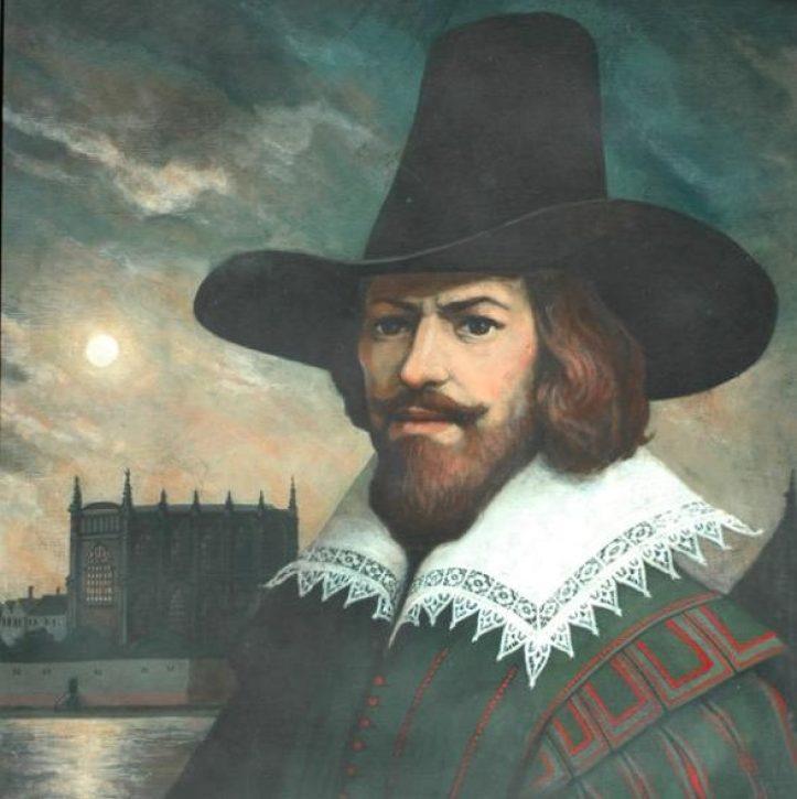 Guy Fawkes - the man behind the Gunpowder Plot.