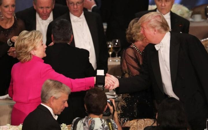 Image result for hillary and trump