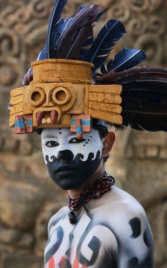 Day of the Dead reveller in Mexico
