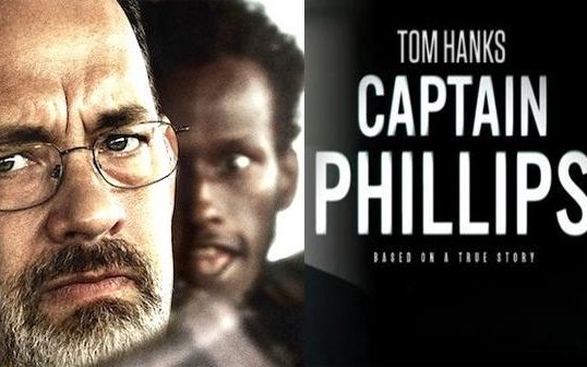 Publicity poster for 2013 film Captain Phillips starring Tom Hanks