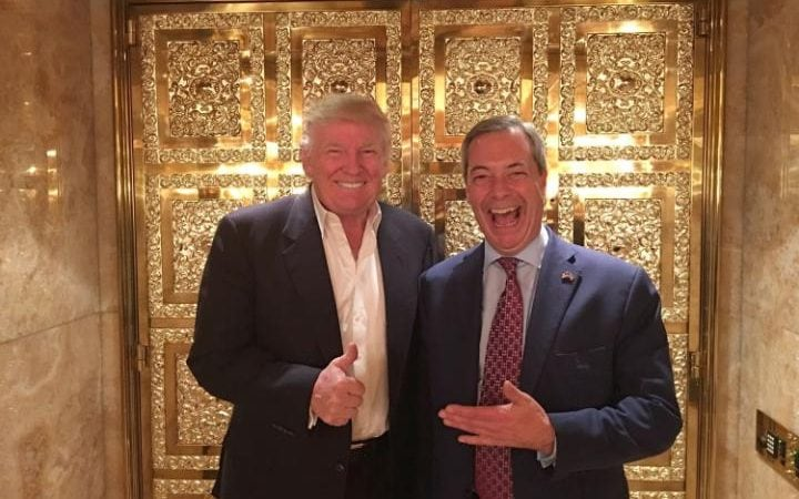 Donald Trump and Nigel Farage meet up