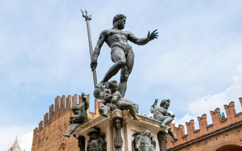 The nude statue of Neptune in one of Bologna's main piazzas dates from the 16th century.
