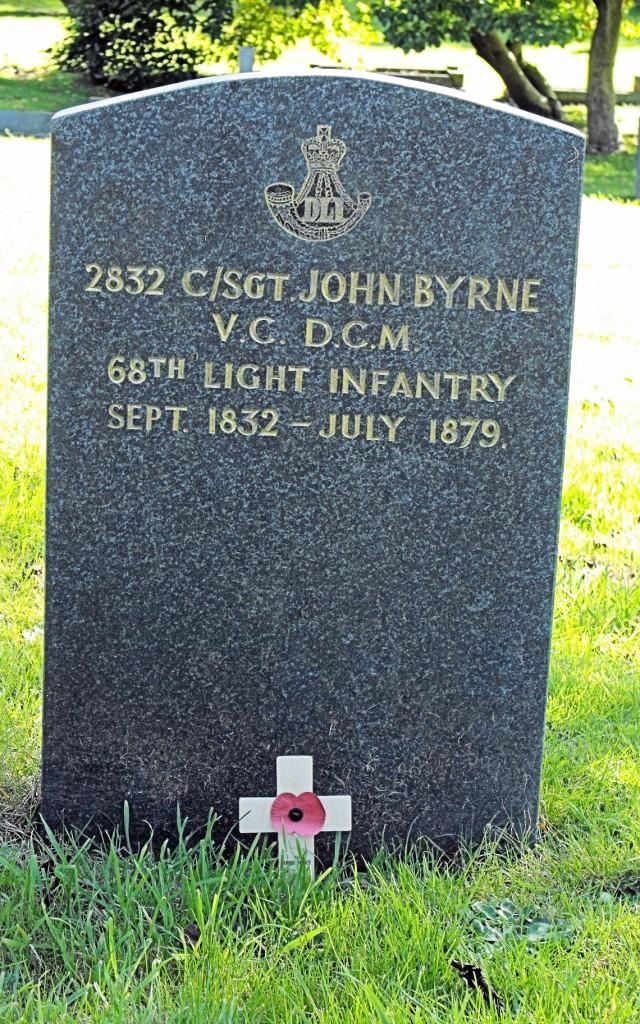 John Byrne's grave in Newport