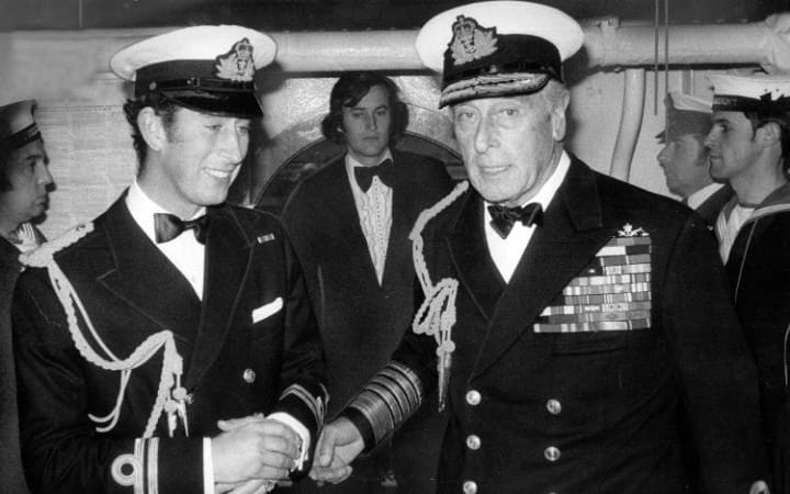 Prince Charles and Admiral of the Fleet Earl Mountbatten