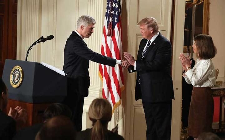 Image result for trump court neil gorsuch