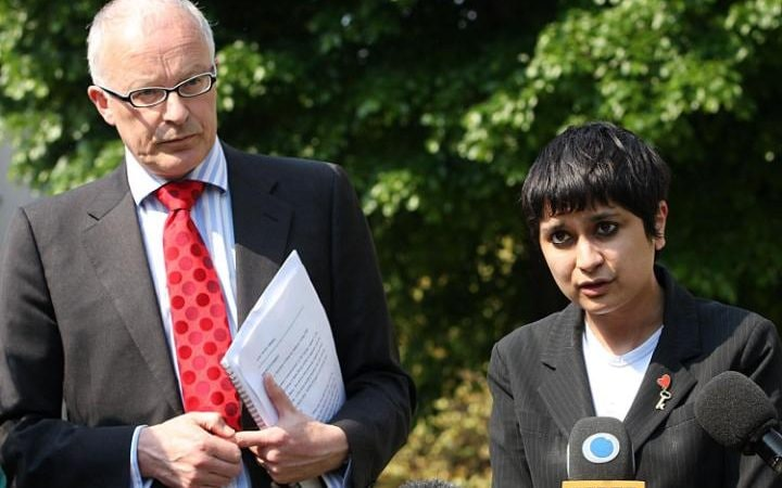 Mr Shiner and Shami Chakrabarti, then of pressure group Liberty, in 2008