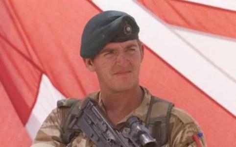 Royal Marine Alexander Blackman was seen leaving Erlestoke Prison just before 12.20am on Friday