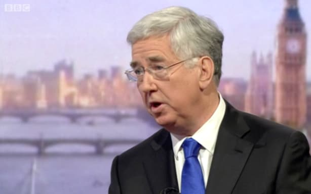 Michael Fallon on the BBC's Andrew Marr show