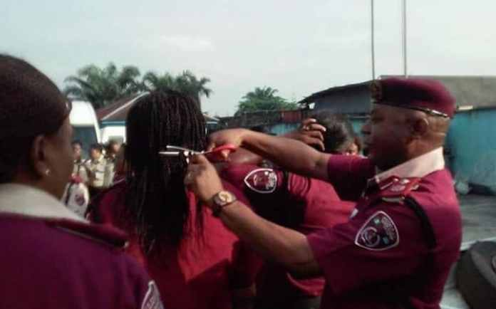 Mr Kumapayi cut off employees' braids and weaves during an  inspection parade