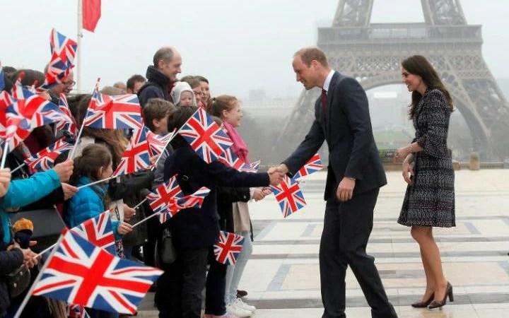 The Duke and Duchess of Cambridge in Paris