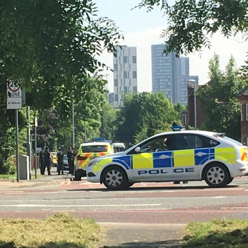 Bomb squad on the scene in Manchester