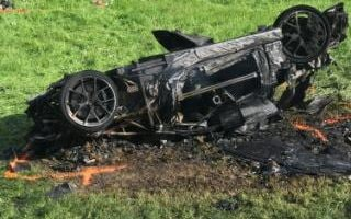 the car which was involved in a crash where Richard Hammond escaped serious injury, in Switzerland