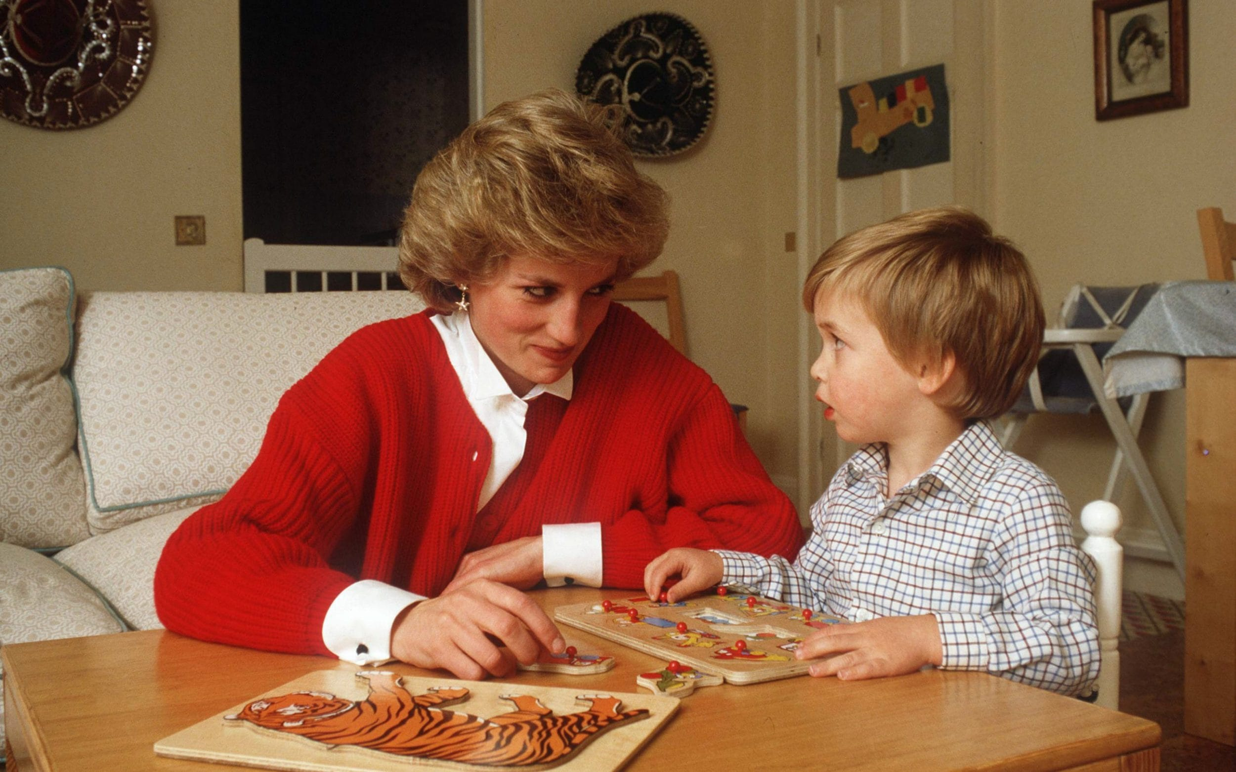 Diana, Princess of Wales, with a young Prince William
