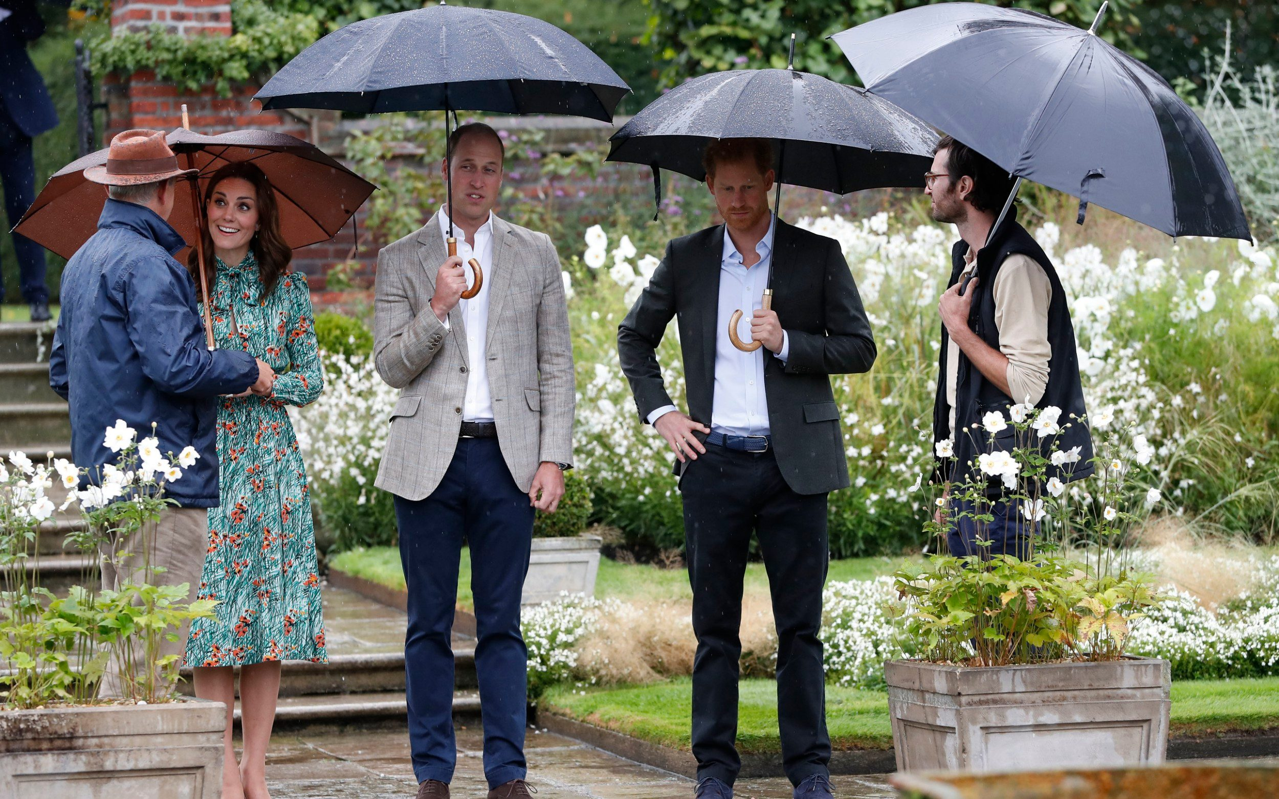The Royals are given a tour by gardeners