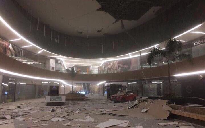 Picture on social media showed buildings were damaged in Chiapas state in Mexico