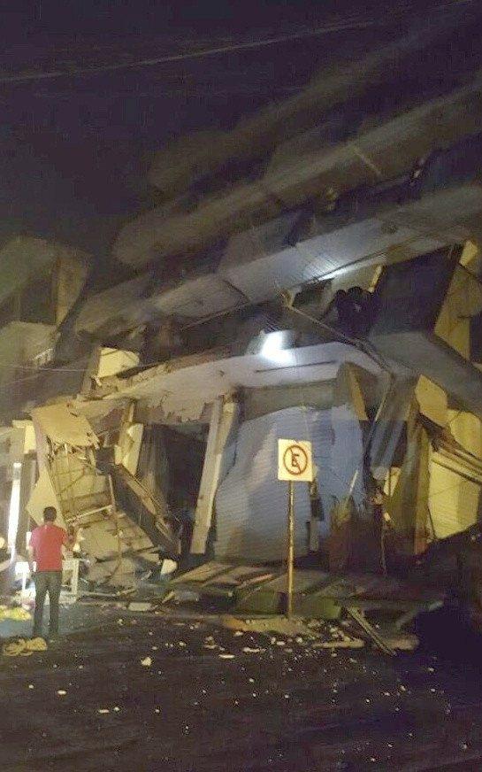 ?a collapsed building in Matias Romero, Oaxaca, Mexico