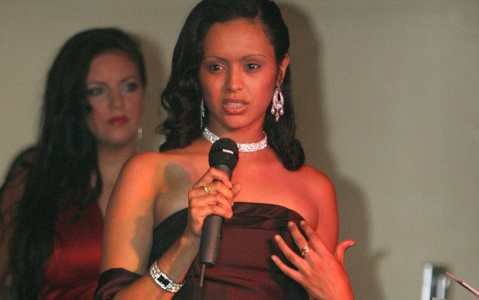 Mulumebet Girma, a former model, taking part in the Miss Brighton contest in 2005