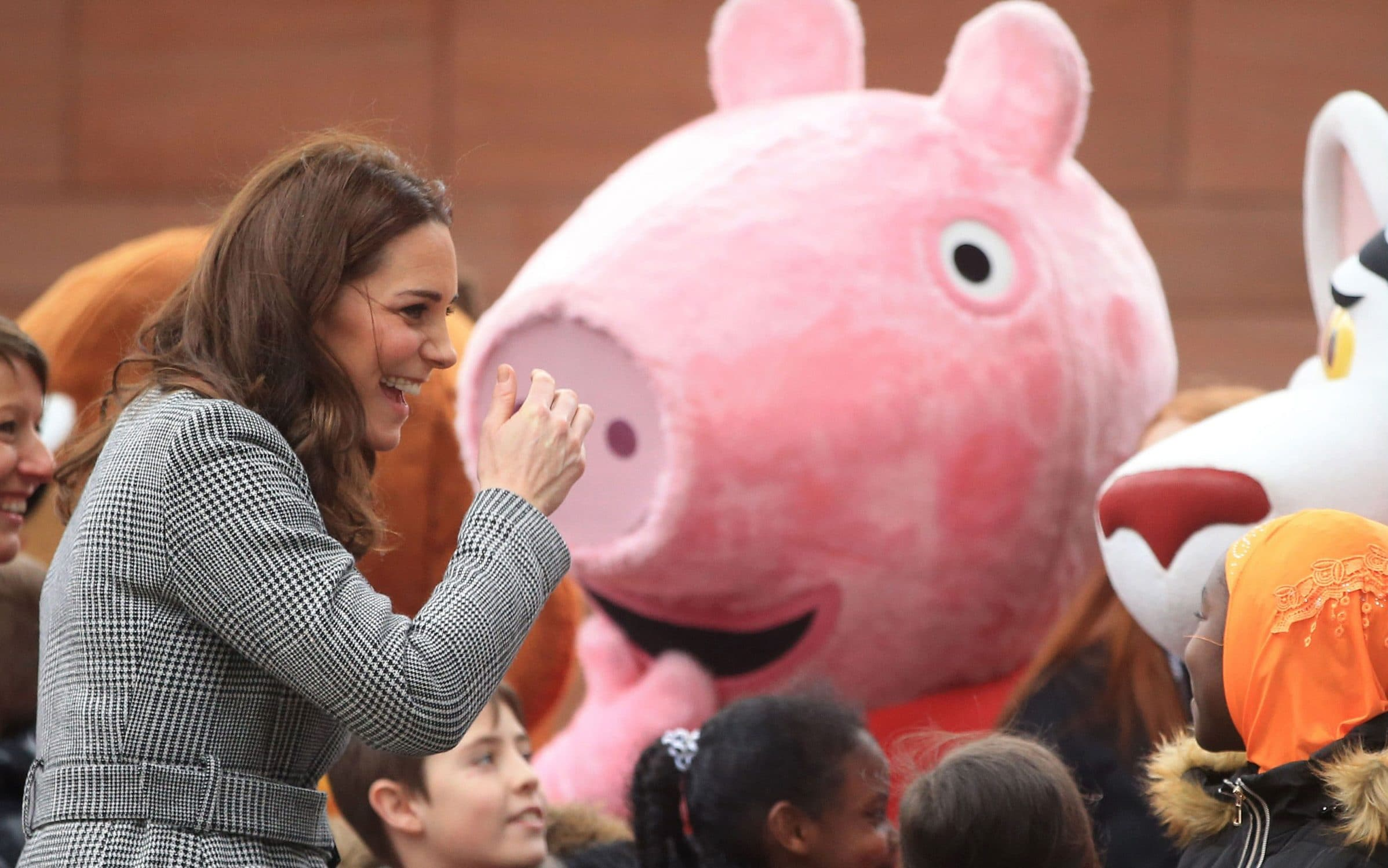 The Duchess of Cambridge meets well-wishers