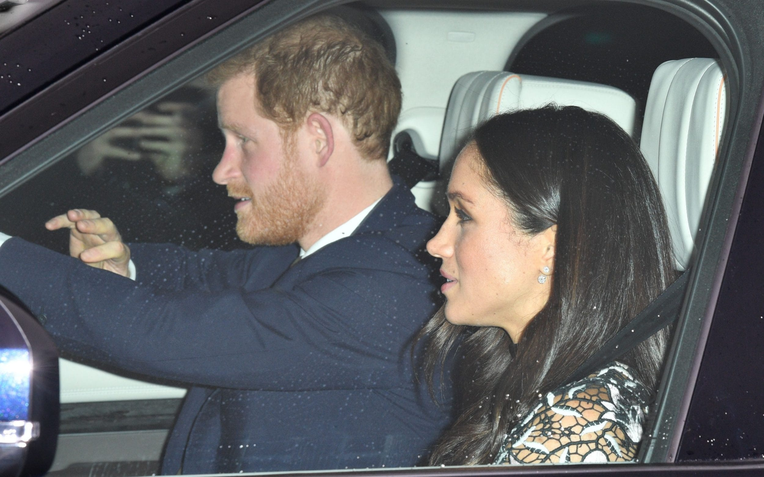 Meghan Markle was driven into Buckingham Palace by Prince Harry