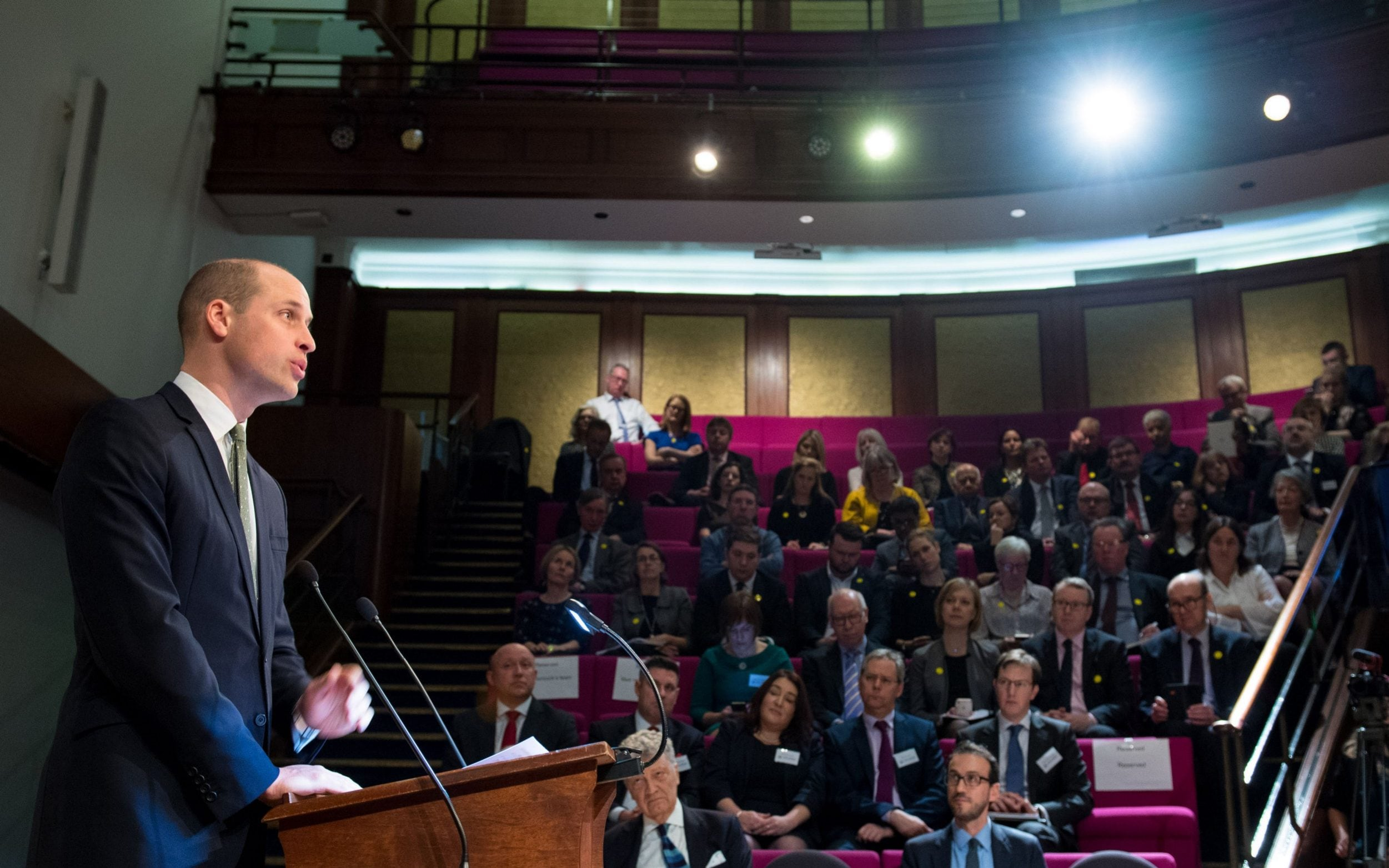 The Duke of Cambridge speaks to charity leaders