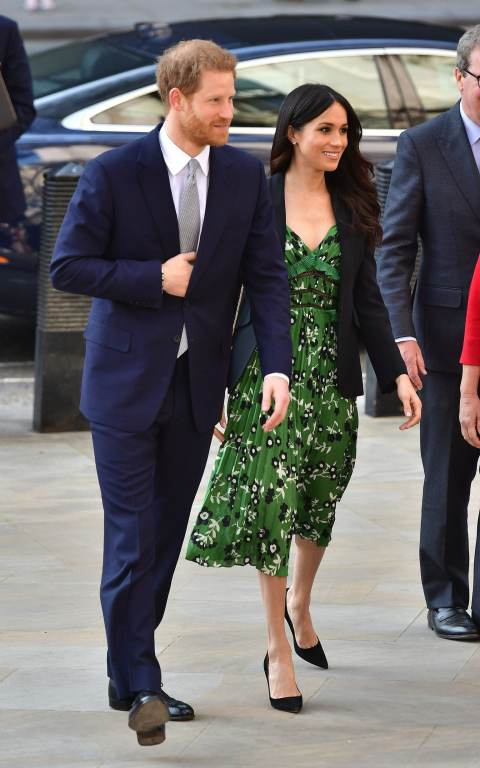 Prince Harry and Meghan Markle arrive at the Australian High Commission in London