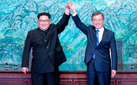 Image result for North & South Korean leaders hold historic summit