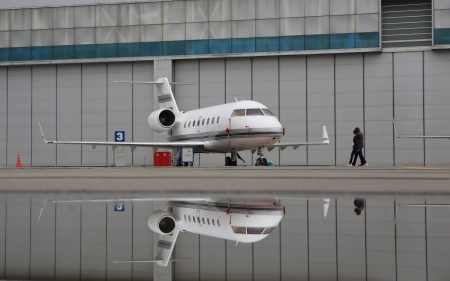 The private jet was a Bombardier Challenger 601