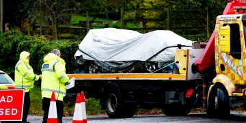 Two people killed as falling tree hits car in Gloucestershire