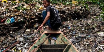 Toxic water: A river slowly poisoned by pollution