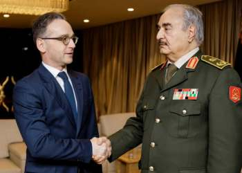 Libyan rebel Gen Haftar has agreed to abide by ceasefire and will join conference in Berlin, Germany says